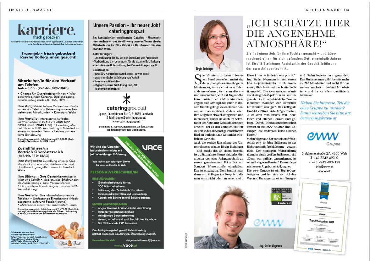 Die Rubriken - KARRIERE & STELLENMARKT