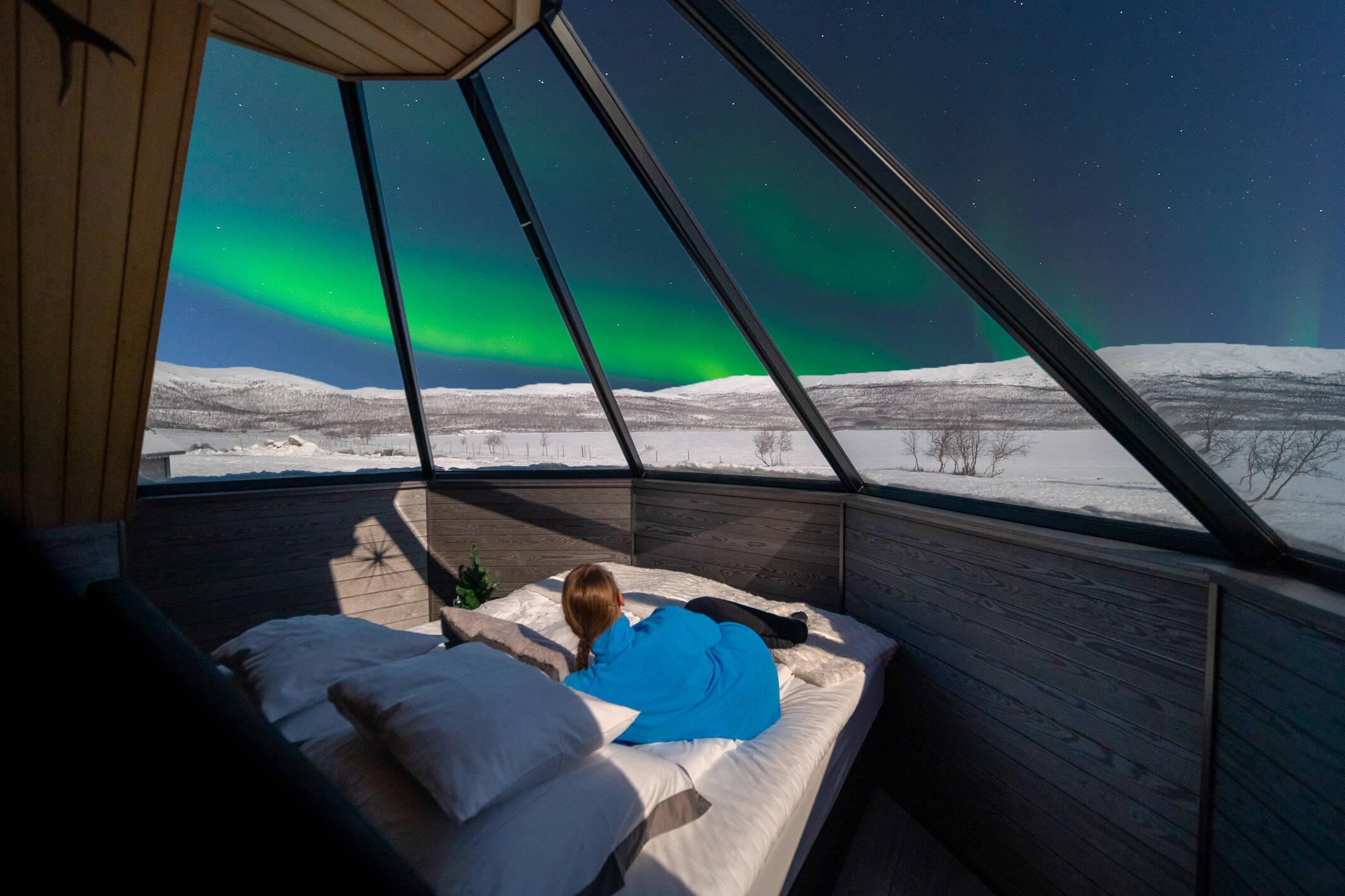 Arctic Land Adventure  Glasiglu Nordlicht 2 - Happy finnish Valentine's Day!